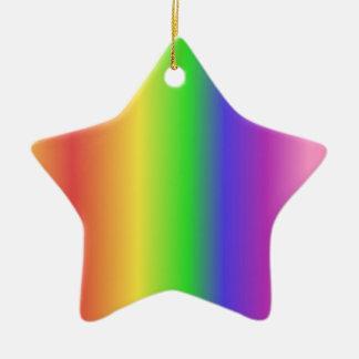 Rainbow gradient christmas ornaments