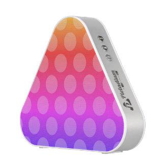 rainbow gradient polka dots pattern