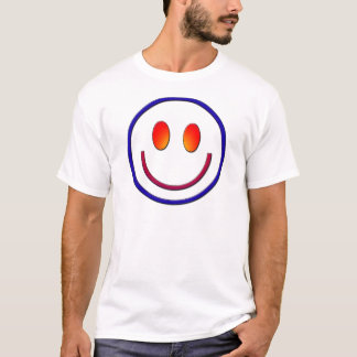 Rainbow Gradient Smiley Face T-Shirt