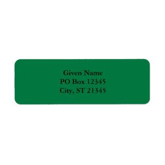 Rainbow Green Return Address Label