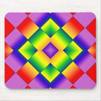 Rainbow Grid Mouse Pad