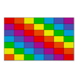 Rainbow Grid Poster 24x20