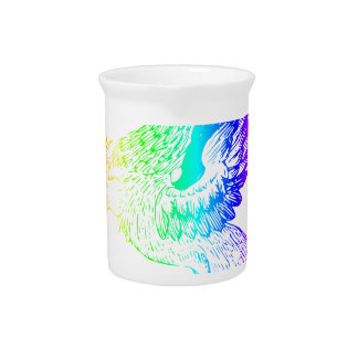 Rainbow Gryphon #2 Beverage Pitcher