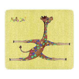 Rainbow Gymnastics by The Happy Juul Company Cutting Board