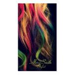 Rainbow Hair Stylist Profile Cards Business Card Template