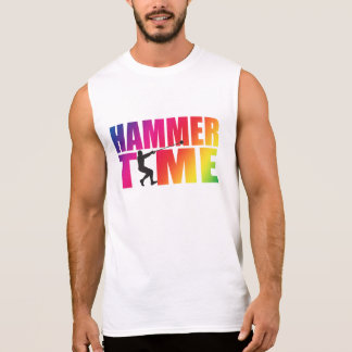 Rainbow Hammer Time! Men's Hammer Throw Shirt