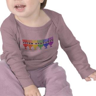 Rainbow Happy Chanukah 2-Sided Infant Longsleeve T Shirts