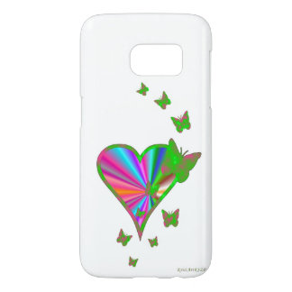 Rainbow Heart and Butterfly