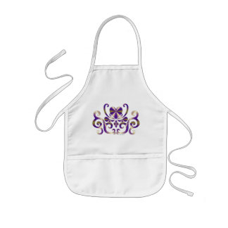 Rainbow Heart and Lily Kids Apron