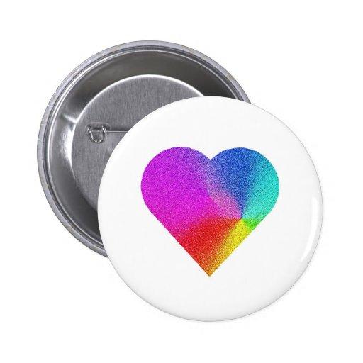 Rainbow Heart Pin