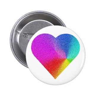 Rainbow Heart Buttons