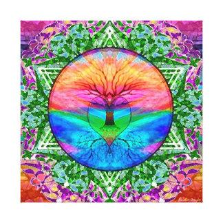Rainbow Heart Canvas Print
