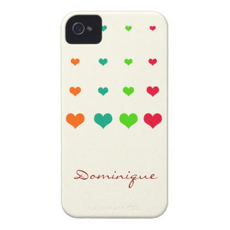 Rainbow Heart iPhone 4 Case-Mate Cases