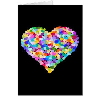 Rainbow Heart Confetti Greeting Cards