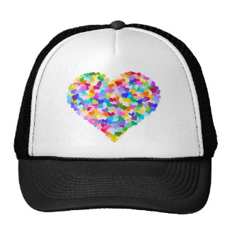 Rainbow Heart Confetti Trucker Hat