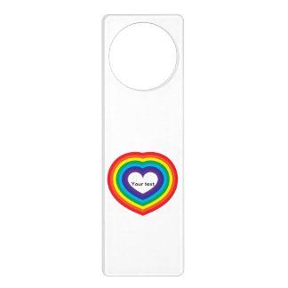 Rainbow heart door hanger