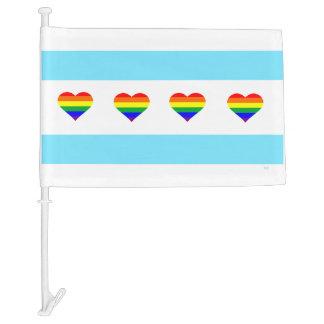 Rainbow Heart Flag Chicago