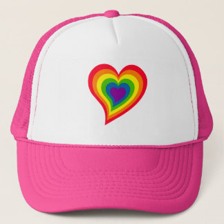 Rainbow Heart hat