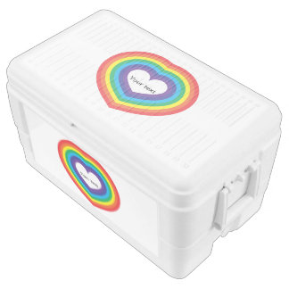 Rainbow heart ice chest