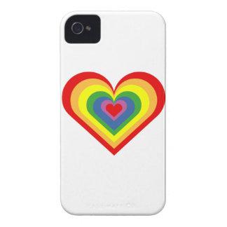 Rainbow Heart iPhone 4 Case-Mate Case
