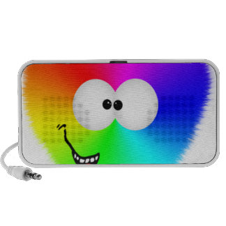 Rainbow heart iPod speaker