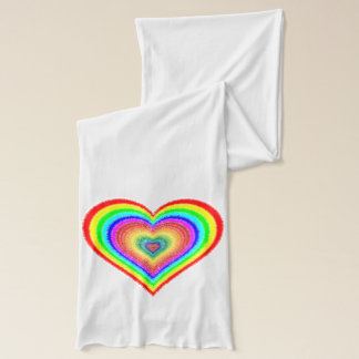 "Rainbow Heart, ""It's Only Love"" Scarf Wrap"