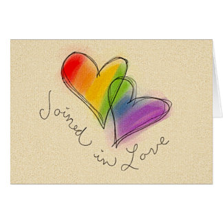 Rainbow Heart Joined in Love Cards