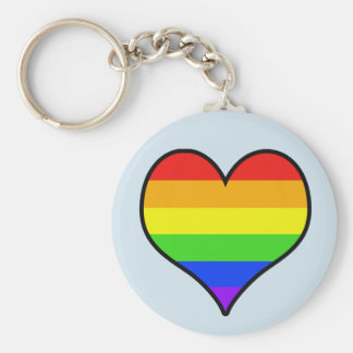 Rainbow Heart Key Ring