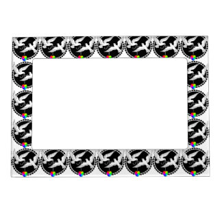 Rainbow Heart Love Doves Frame Gay Wedding Gift Magnetic Picture Frames