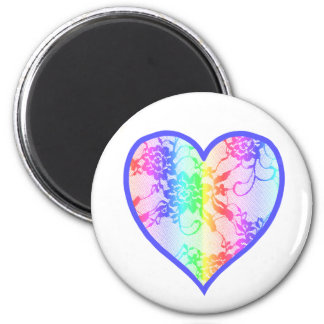 Rainbow Heart Fridge Magnets
