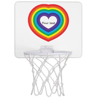 Rainbow heart mini basketball hoop