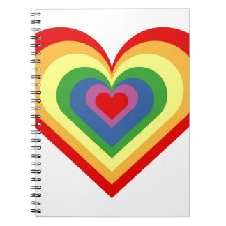 Rainbow Heart Notebook