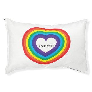 Rainbow heart pet bed