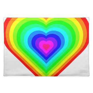 Rainbow Heart Placemat
