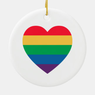 Rainbow Heart Pride Ornament