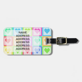 Rainbow Heart Quilt Pattern Luggage Tag