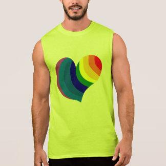 Rainbow Heart Sleeveless Shirt