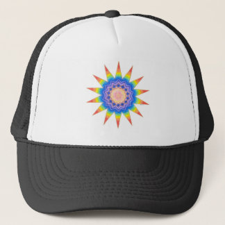 Rainbow Heart Star Trucker Hat