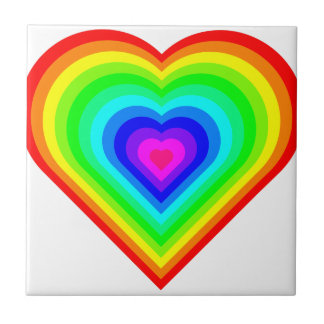 Rainbow Heart Tile