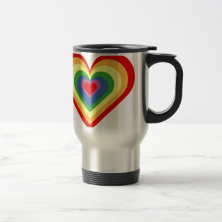 Rainbow Heart Travel Mug