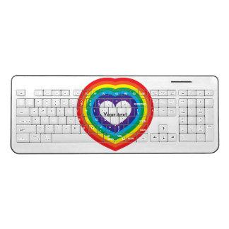 Rainbow heart wireless keyboard