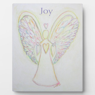 Rainbow Hearts Angel Joy Art Custom Plaque