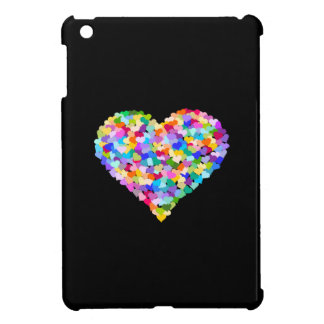 Rainbow Hearts Confetti iPad Mini Cases
