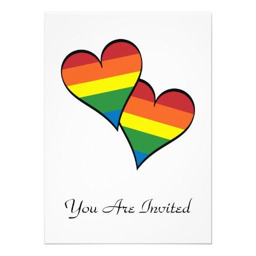Rainbow Hearts Personalized Announcement