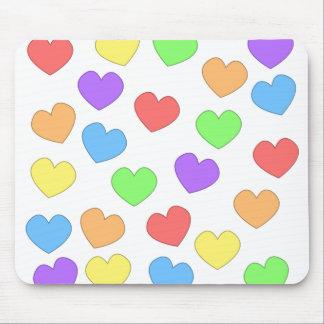Rainbow Hearts Mousepad 0001