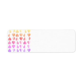 Rainbow Hearts Return Address Labels