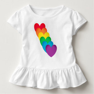 Rainbow Hearts Shaped Toddler T-Shirt