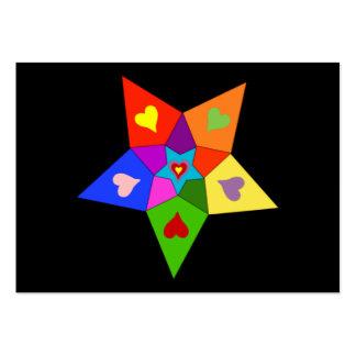 Rainbow Hearts Star Business Card Template
