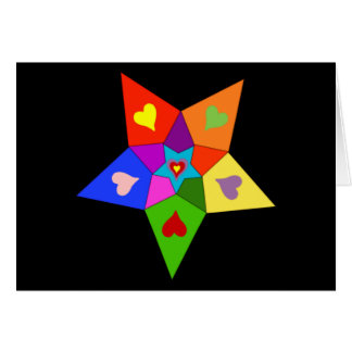 Rainbow Hearts Star Card