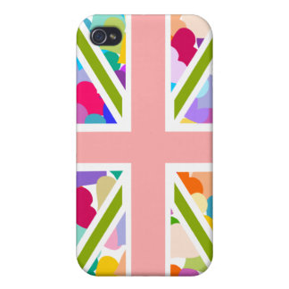 Rainbow Hearts Union Jack Cover For iPhone 4
